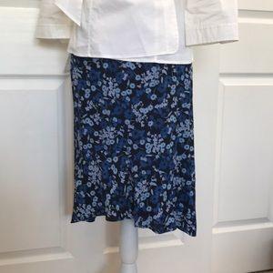 EUC - Blue Floral Skirt